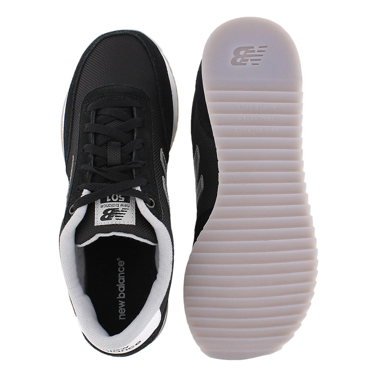 Lds 501 black lace up sneaker