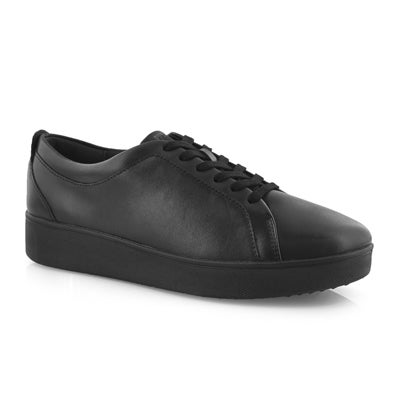 Lds Rally all black lace up sneaker