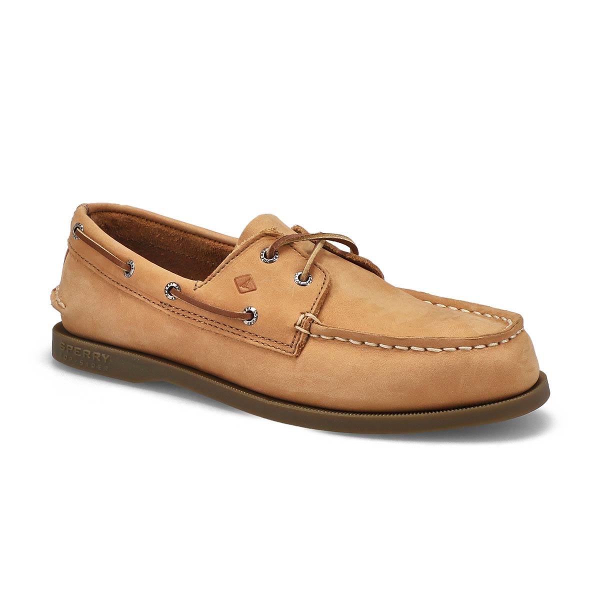 Chaussure bateau A/O, nubucksahara, garç