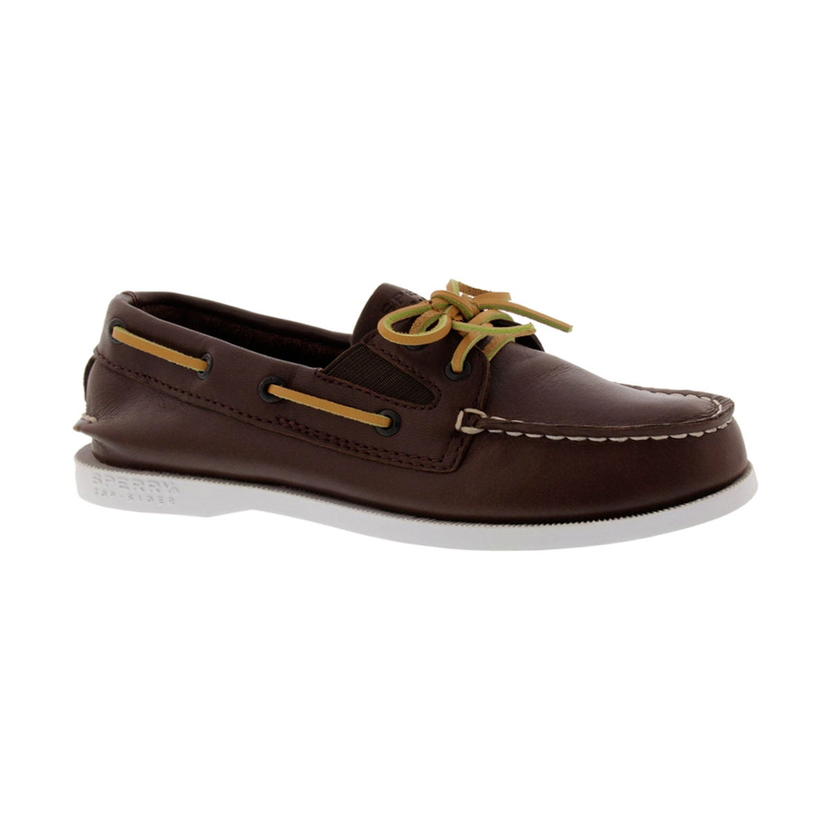 Boys' AUTHENTIC ORIGINAL SLIP ON brown boat shoes