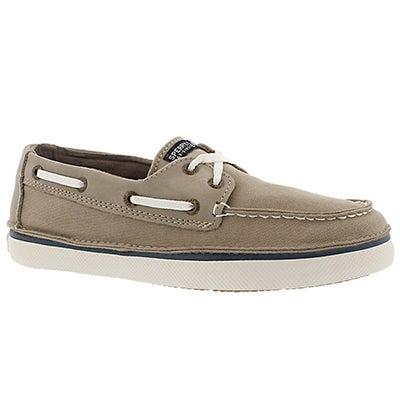 Sperry Boys' CRUZ khaki boat shoes