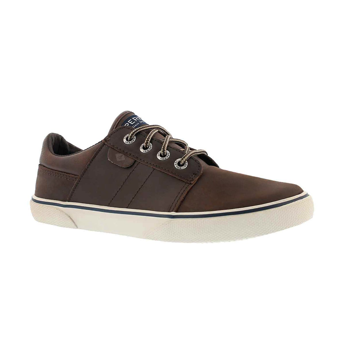 Boys' OLLIE brown lace up sneakers