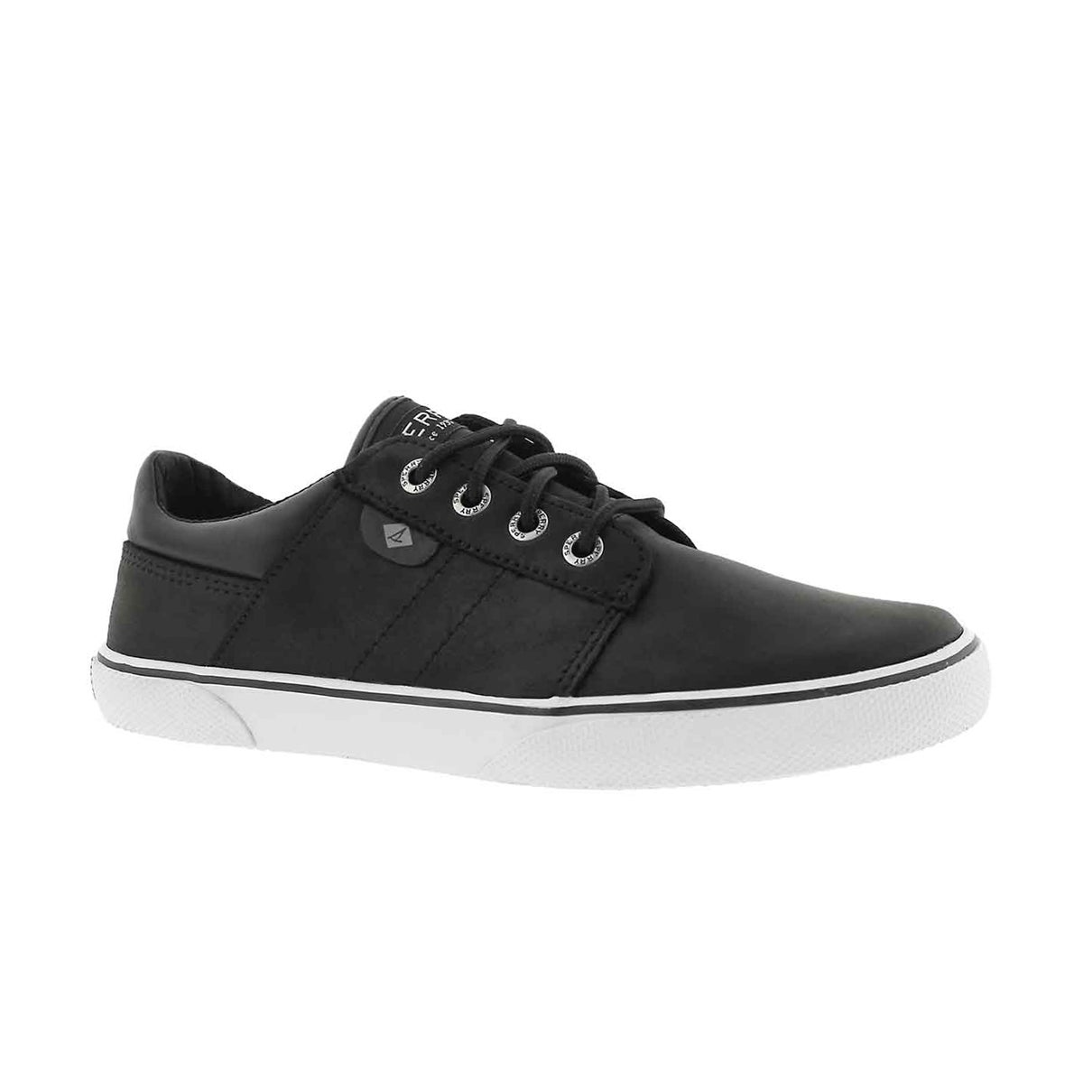 Boys' OLLIE black lace up sneakers