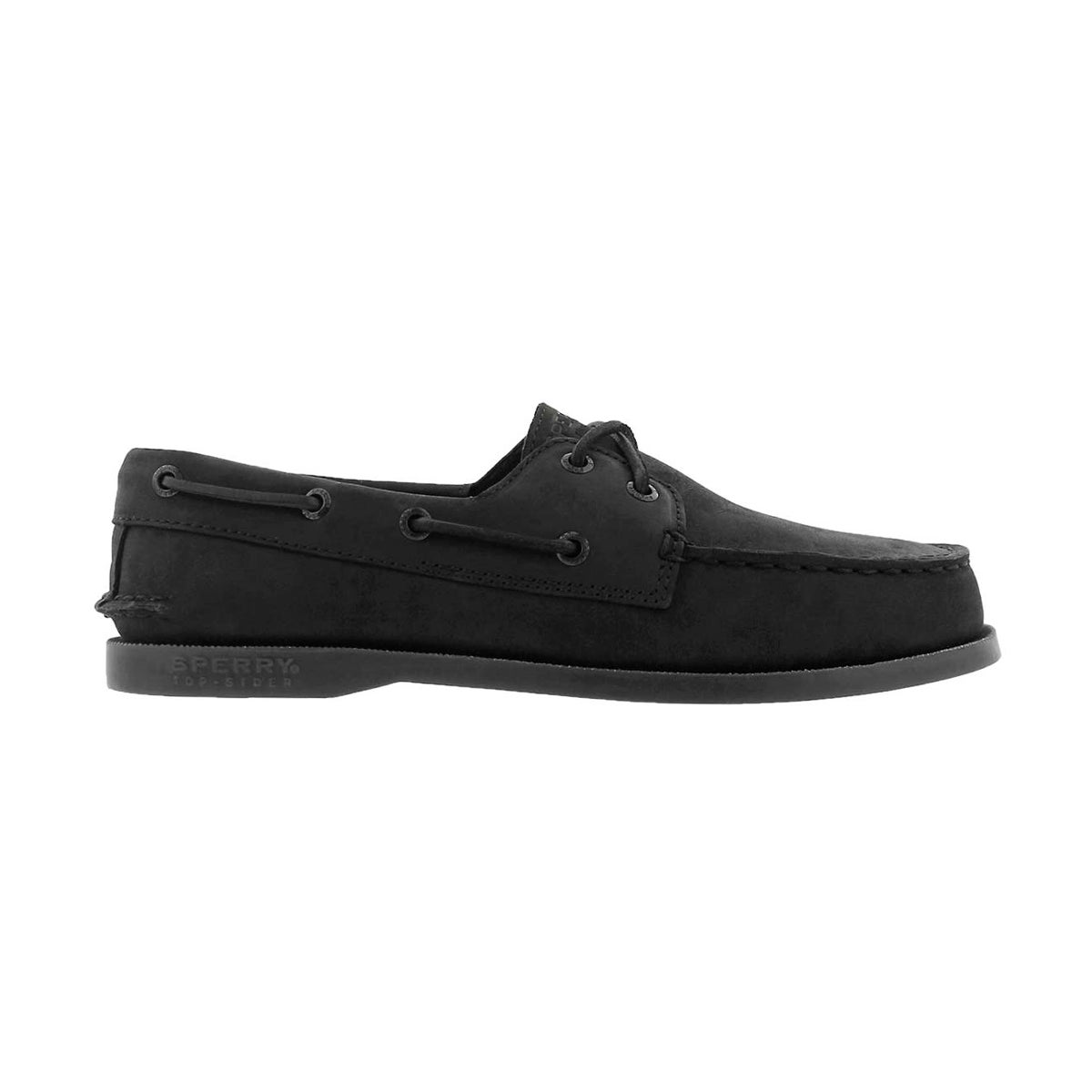Bys A/O black nubuck boat shoe