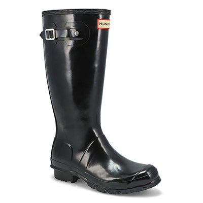 Hunter Girls' ORIGINAL YOUNG GLOSS black rain boots