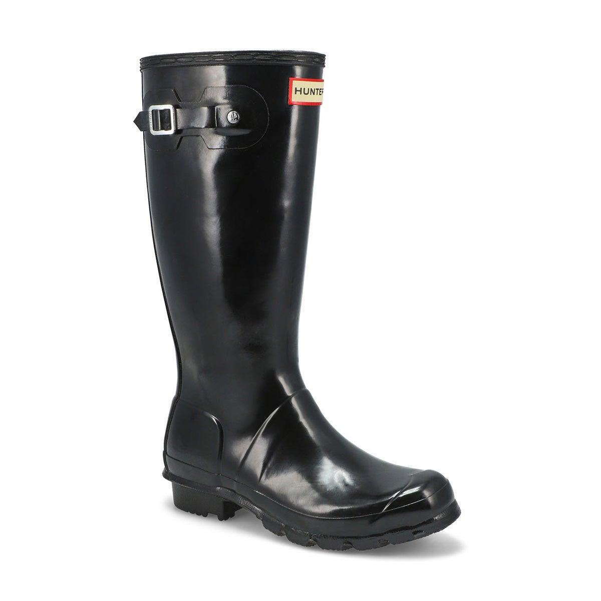 Girls' ORIGINAL YOUNG GLOSS black rain boots