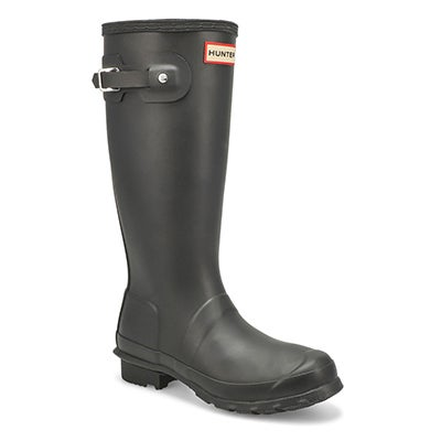 Hunter Girls' ORIGINAL YOUNG black rain boots