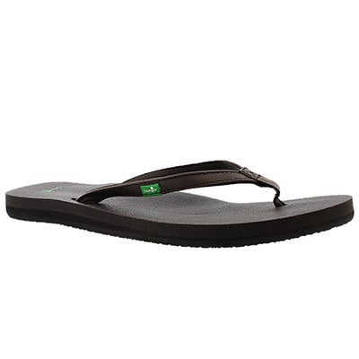 Sanuk Women's YOGA JOY brown flip flops