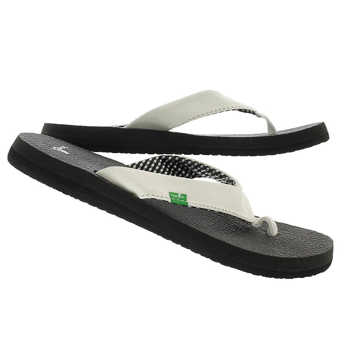 Lds Yoga Mat white flip flop