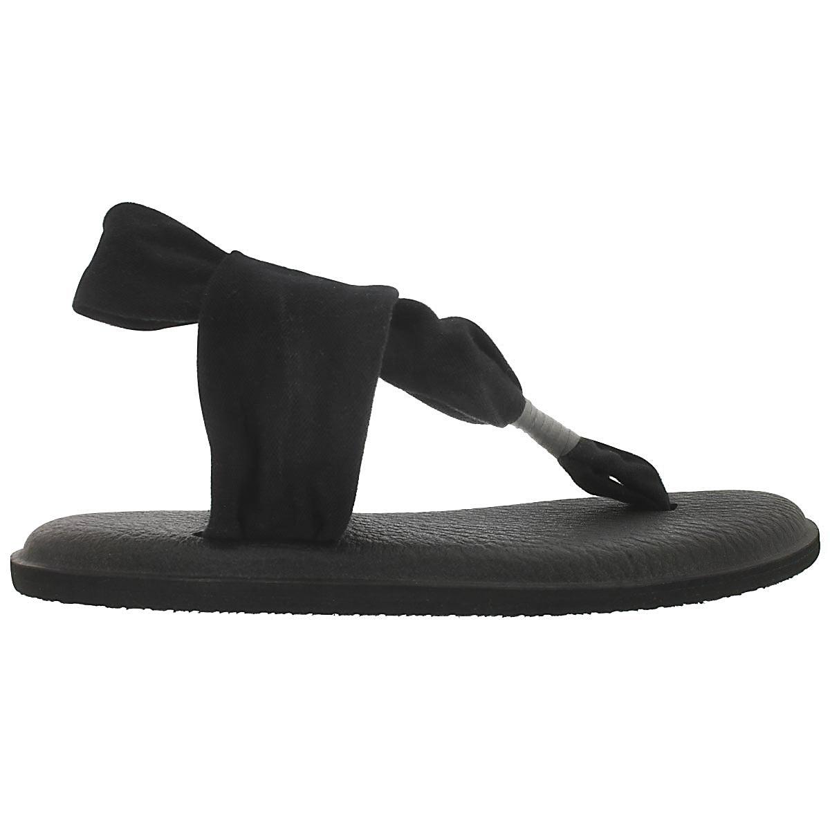 Sandale tong Yoga Sling, noir, femmes
