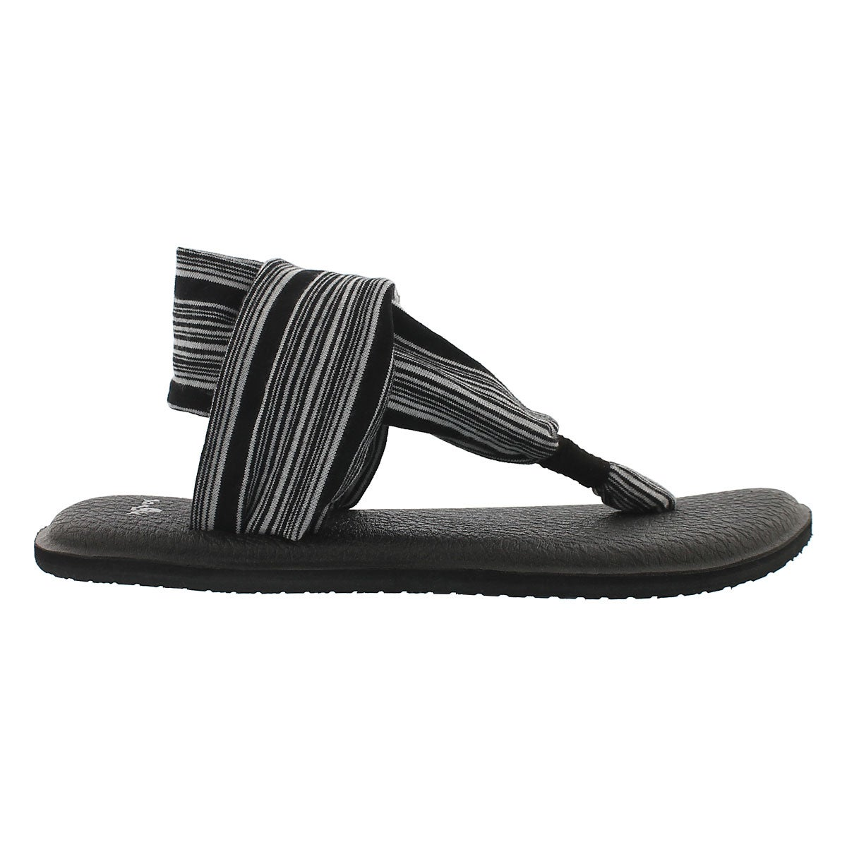 Lds Yoga Sling black/white thong sandal