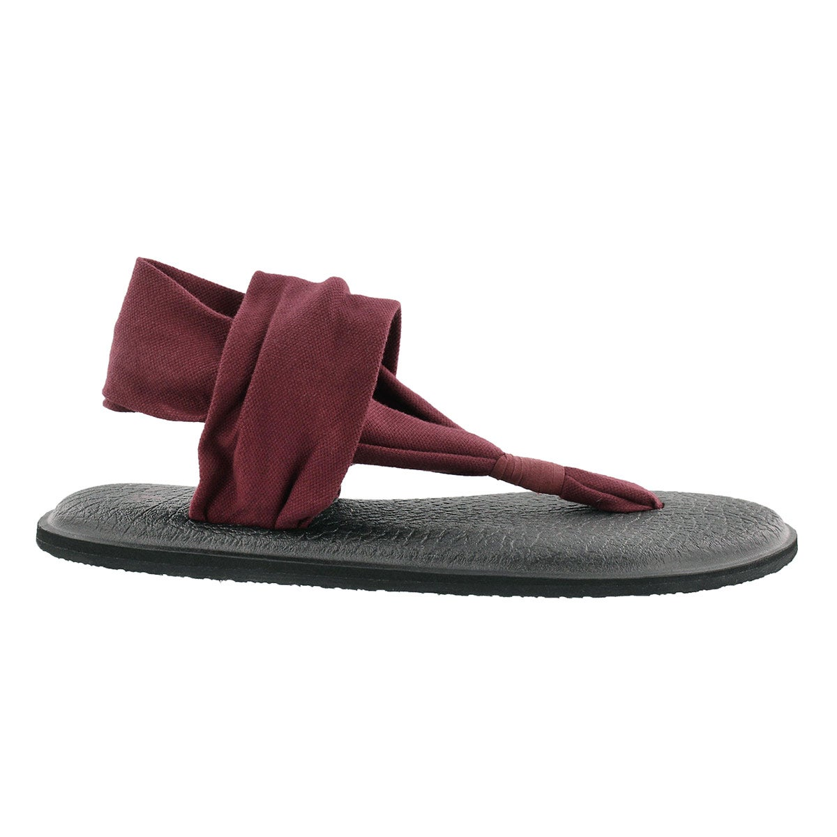 Lds Yoga Sling burgundy thong sandal