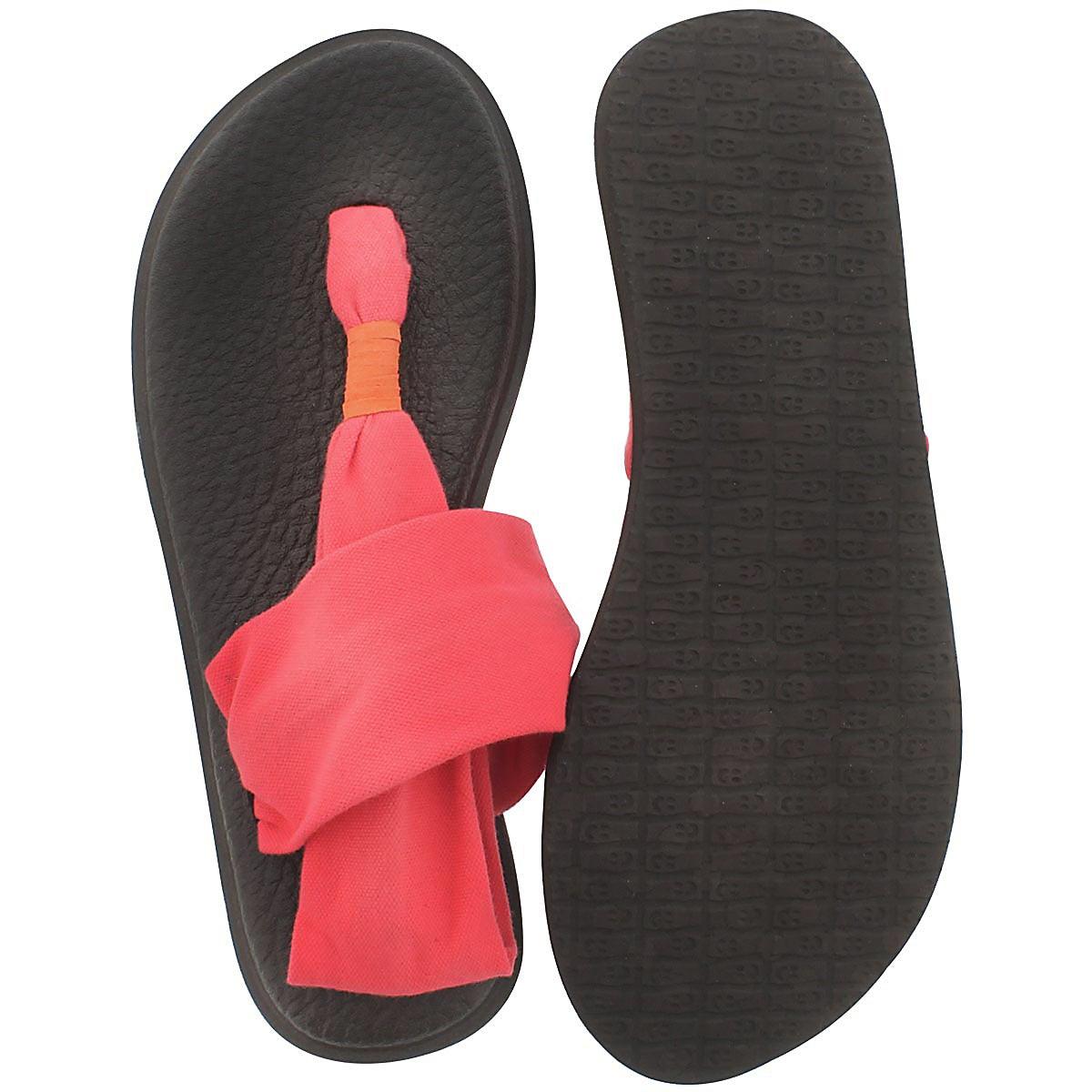 Lds Yoga Sling coral thong sandal