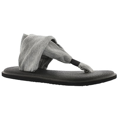 Sanuk Women's YOGA SLING 2 grey thong sandals