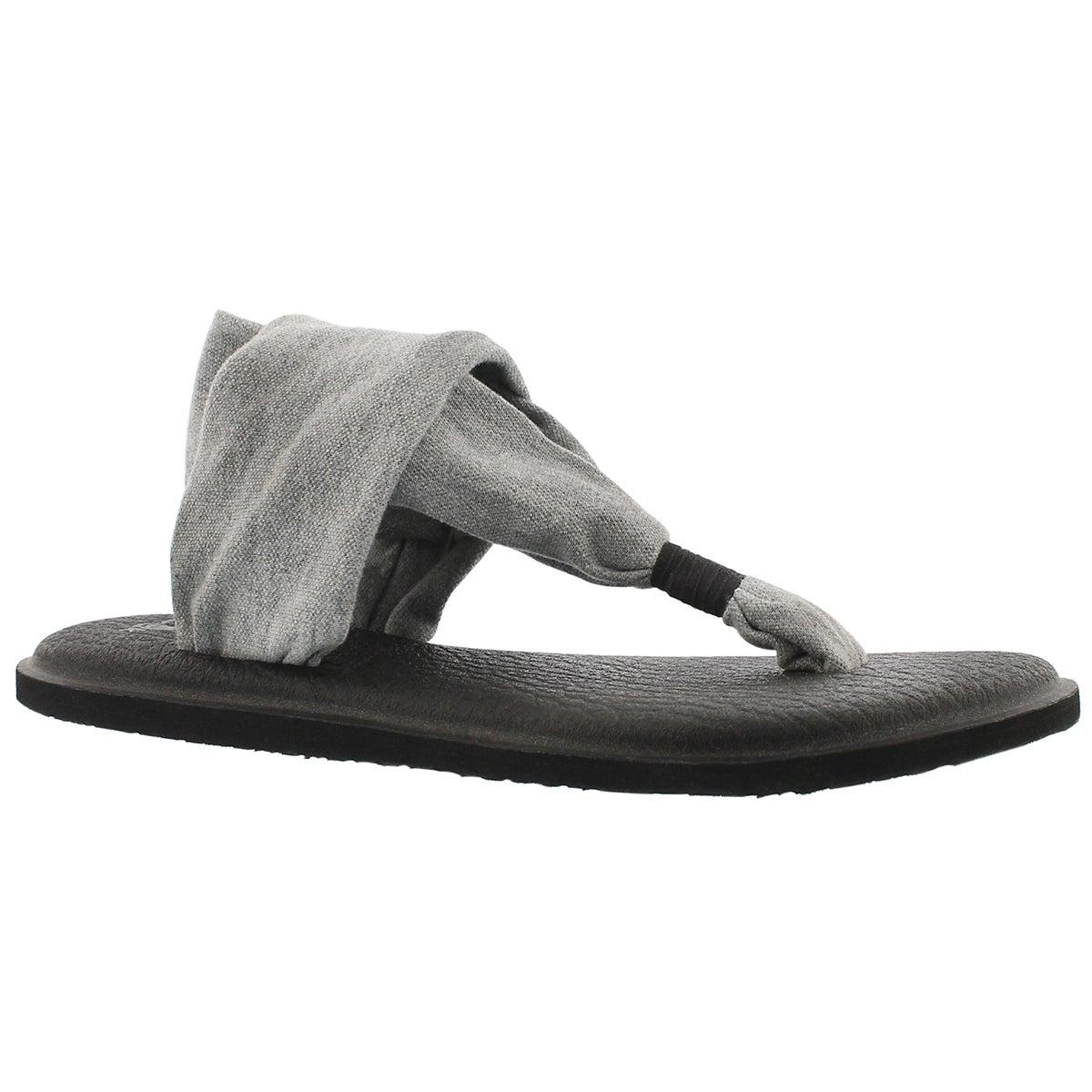 Lds Yoga Sling grey thong sandal