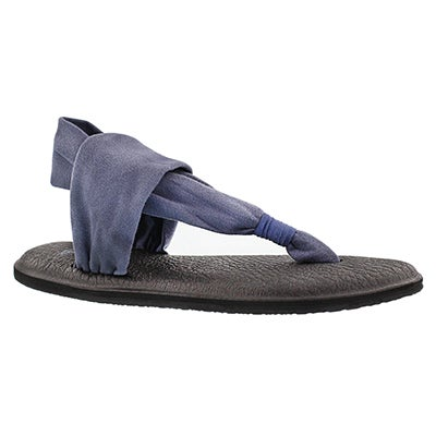 Sanuk Women's YOGA SLING 2 slate blue thong sandals