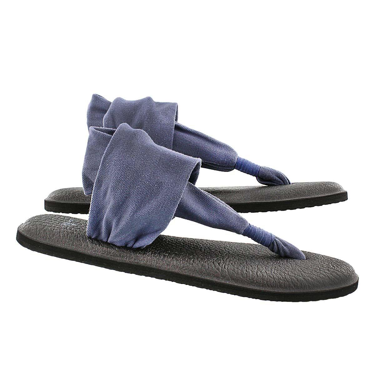Lds Yoga Sling slate blue thong sandal