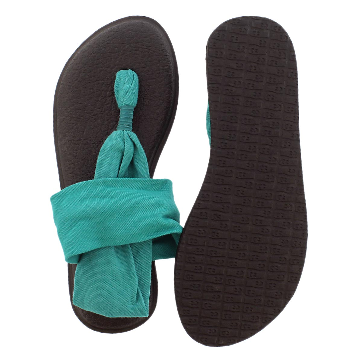Lds Yoga Sling teal thong sandal