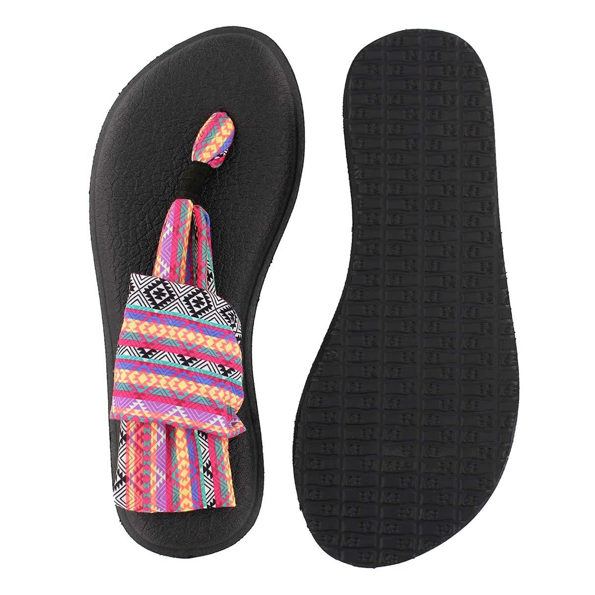 Sandale tong YOGA SLING, magenta/mul, fe