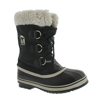 Sorel Boys' YOOT PAC NYLON black winter boots