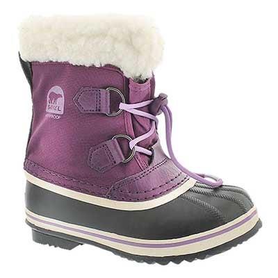 Sorel Girls' YOOT PAC NYLON bramble winter boots