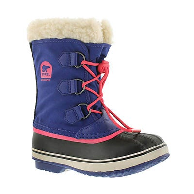 Sorel Girls' YOOT PAC NYLON grape winter boots