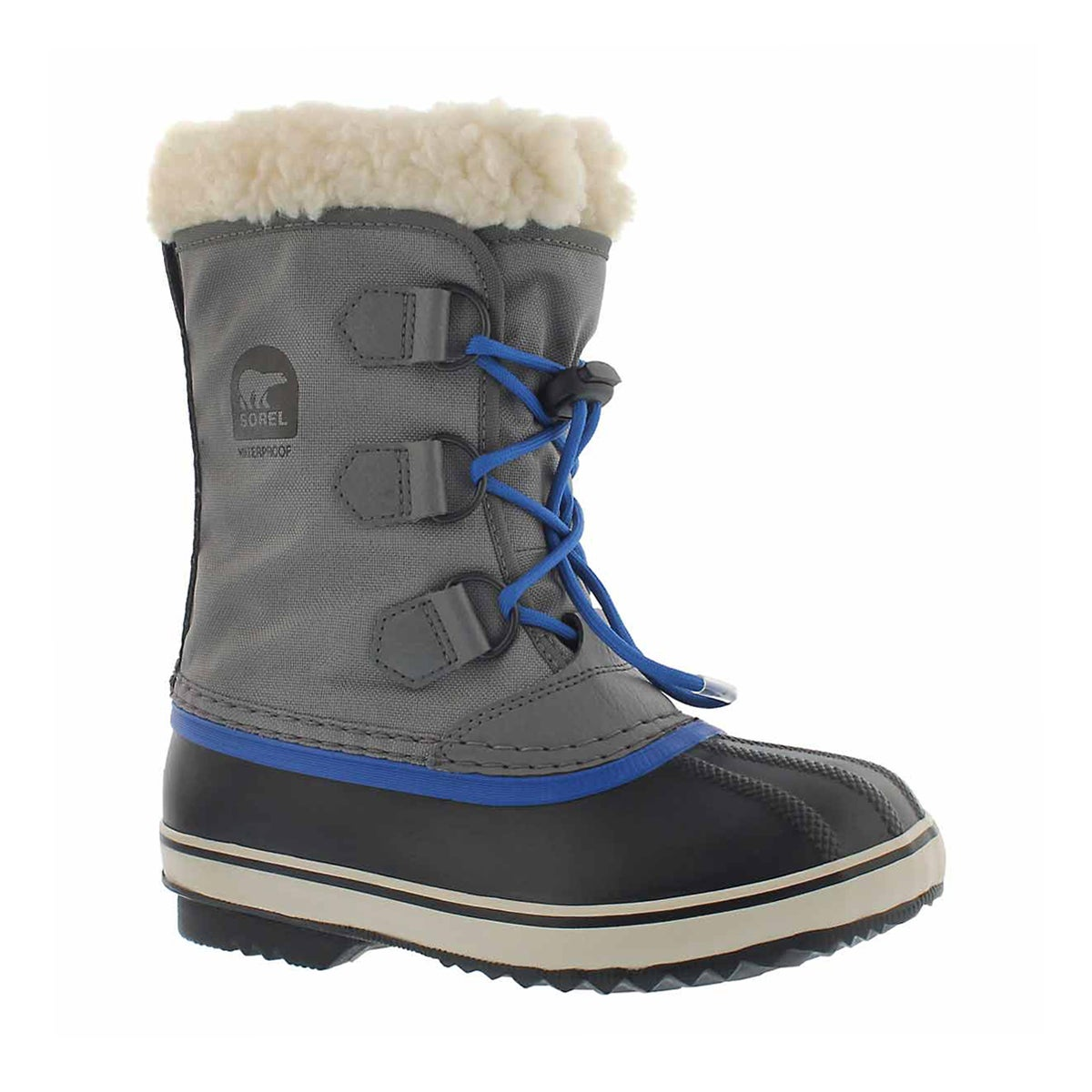 Boys' YOOT PAC NYLON grey waterproof winter boots