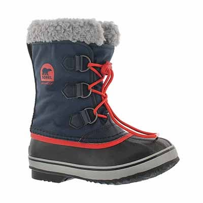 Grls Yoot Pac Nylon navy winter boot