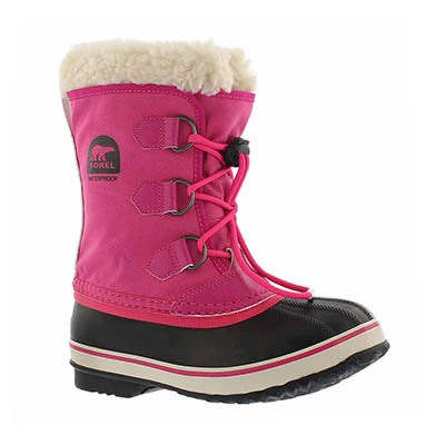 Sorel Girls' YOOT PAC NYLON pink winter boots