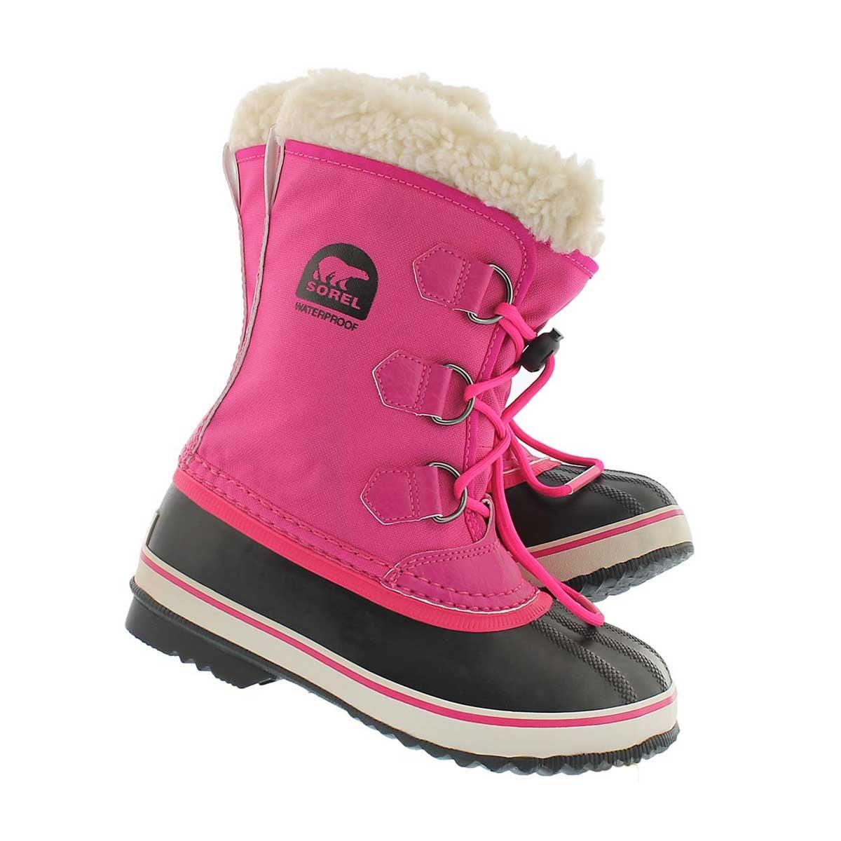 Grls Yoot Pac Nylon pink winter boot