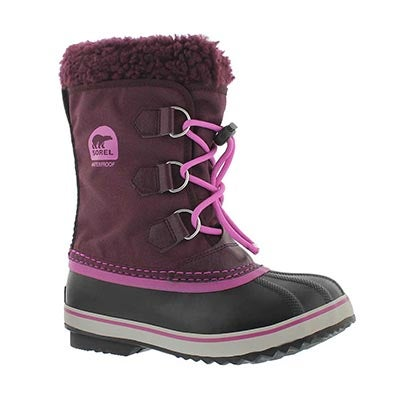 Grls Yoot Pac Nylon purple winter boot