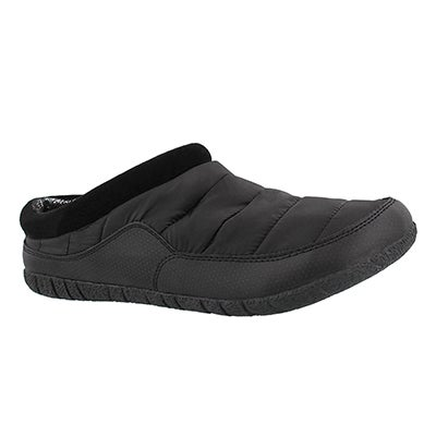 Foamtreads Men's YUKON black open back slippers