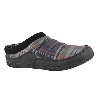 Mns Yukon grey open back slipper