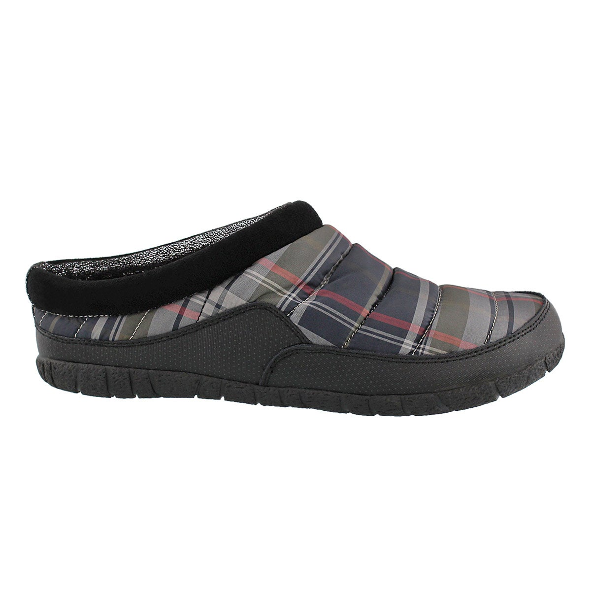 Mns Yukon grey open back slipper