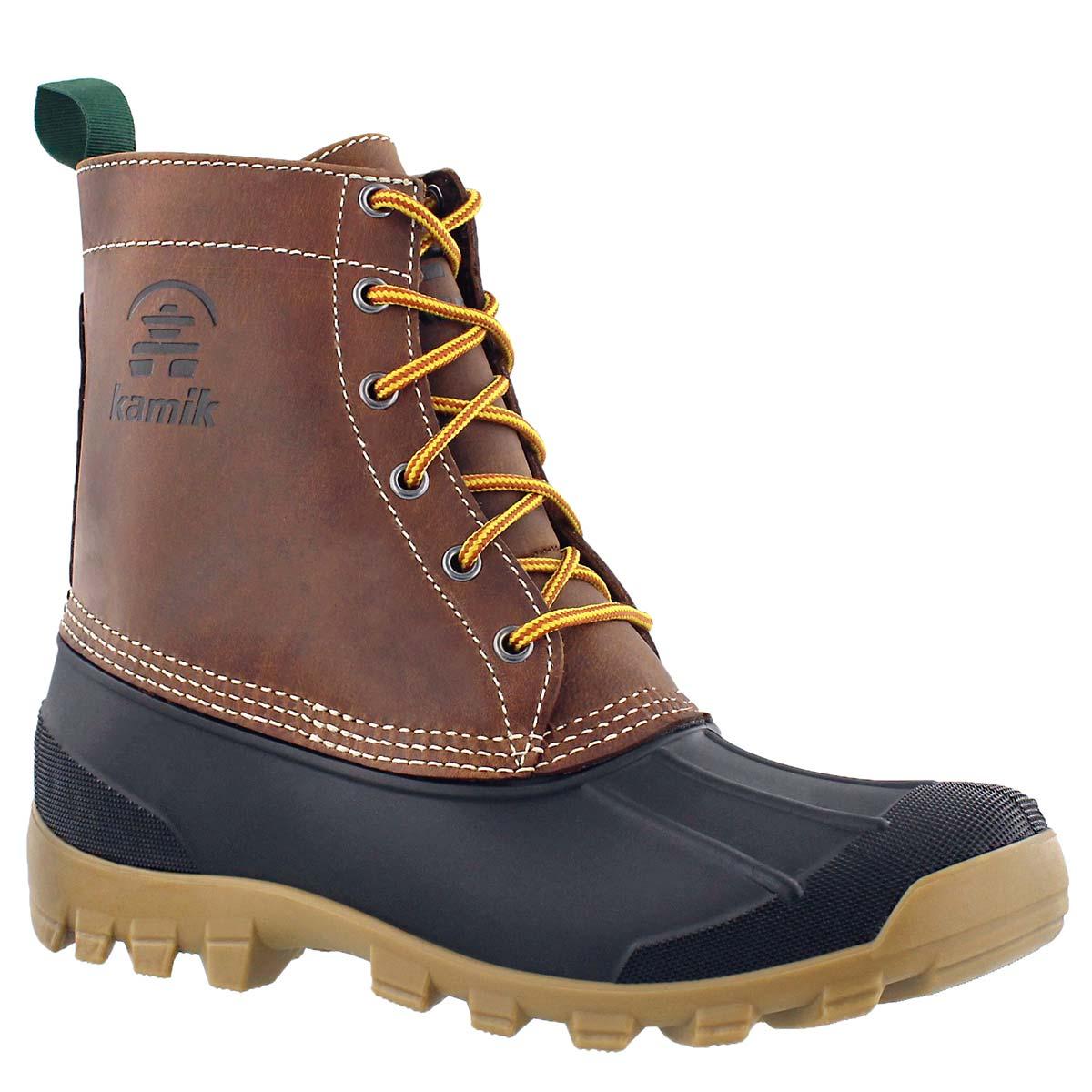 Mns Yukon6 dk brown wtrprf winter boot