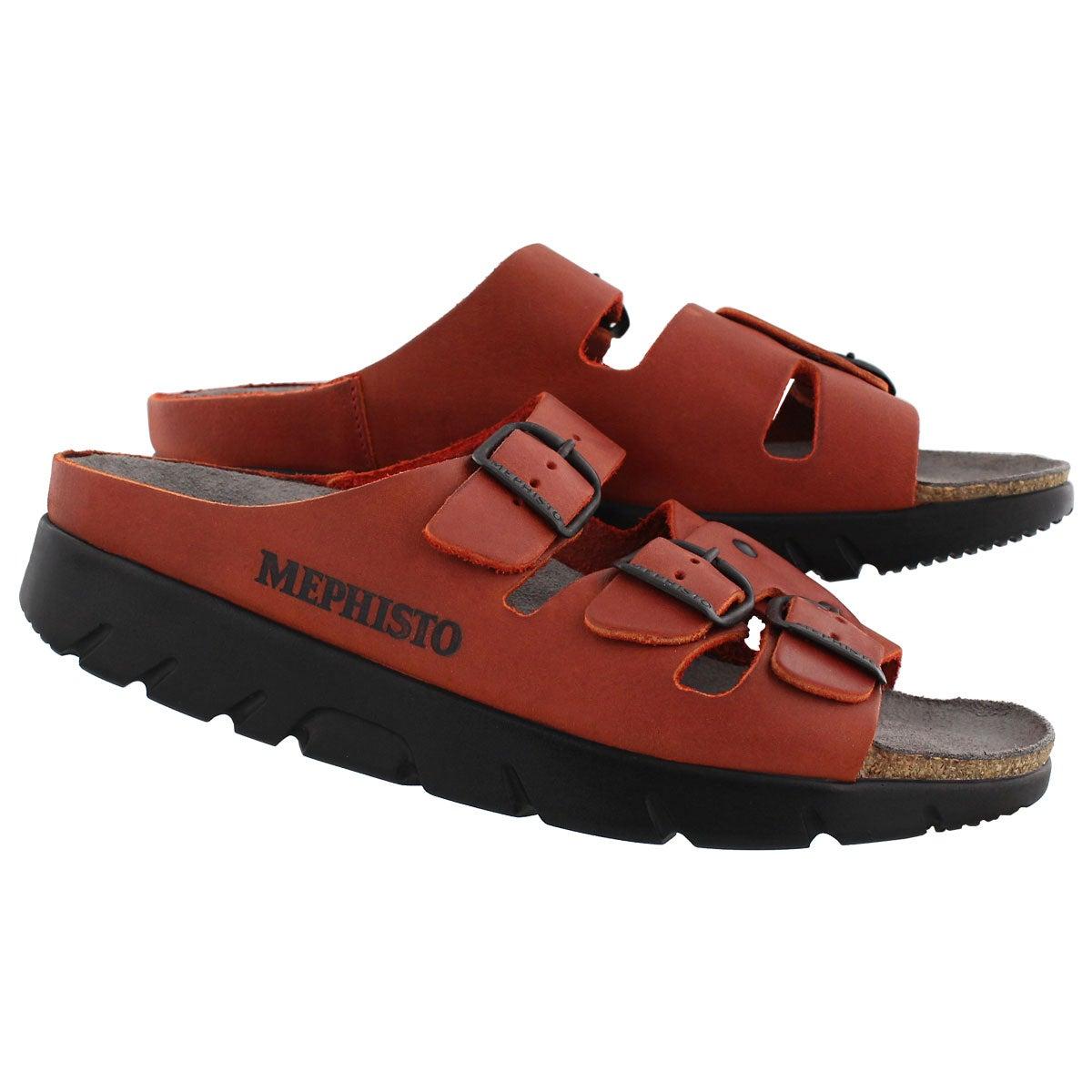 Lds Zach red cork footbed slide