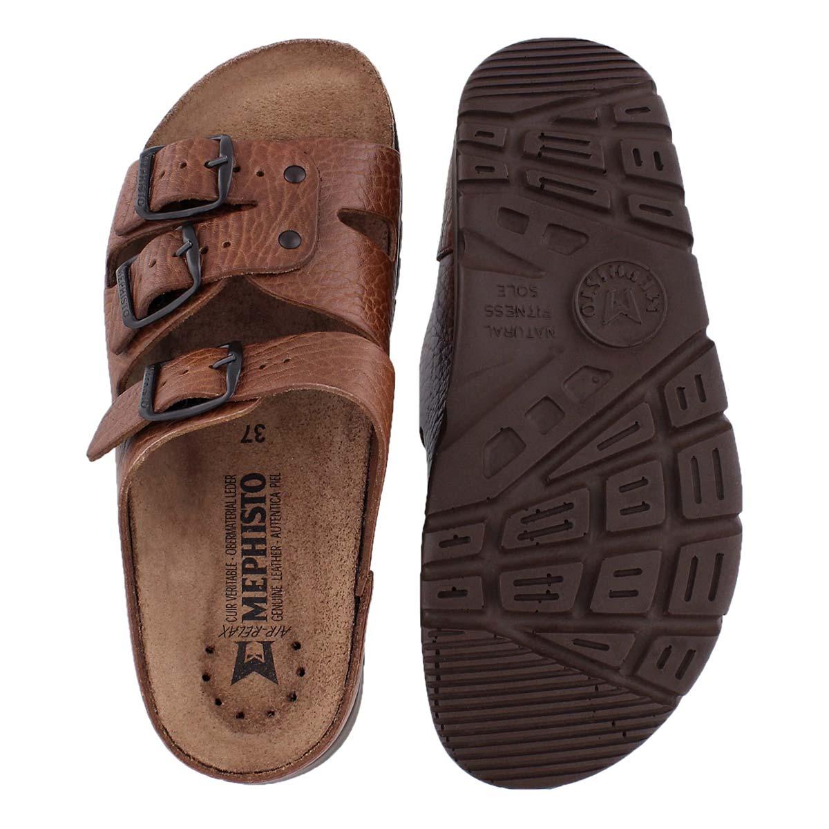Lds Zach buffalo brn cork footbed slide