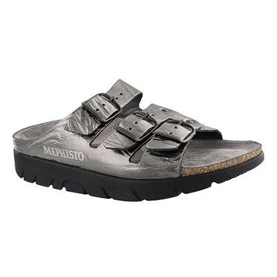 Lds Zach etna grey cork footbed slide