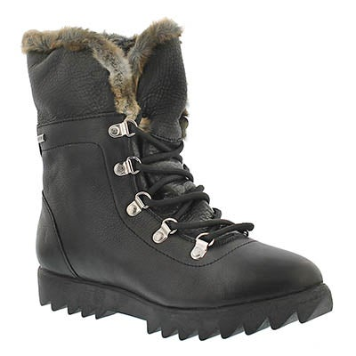 Lds Zag blk leather wtpf winter boot