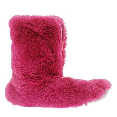SoftMoc Women's ZIPPY 2 fuchsia fluffy zip booties