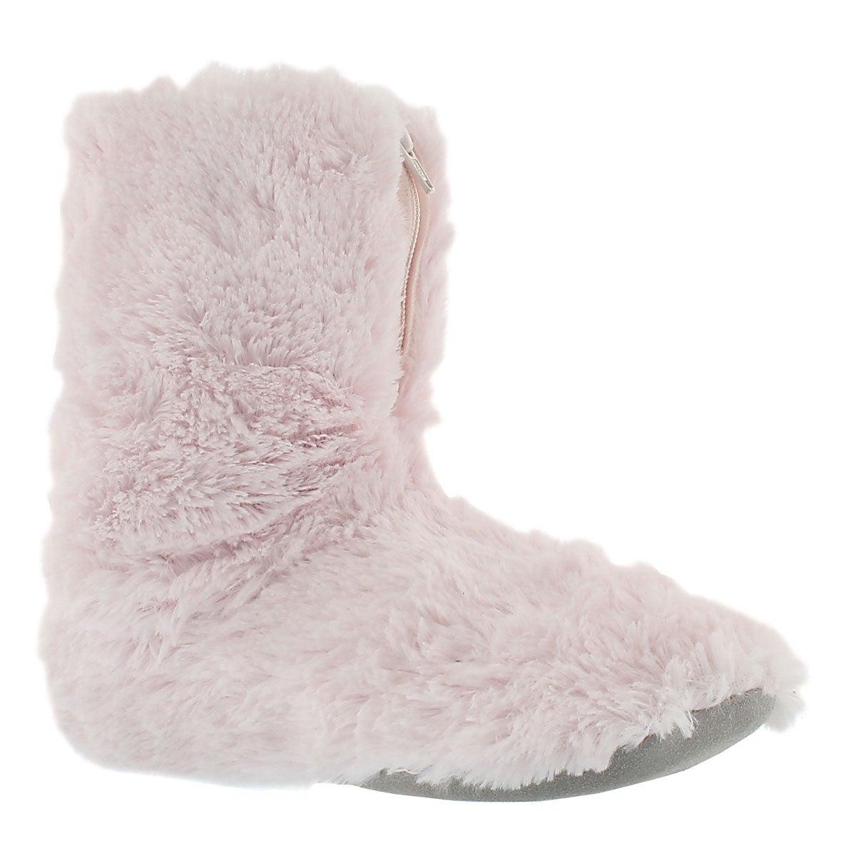Lds Zippy 2 pink fluffy zip bootie