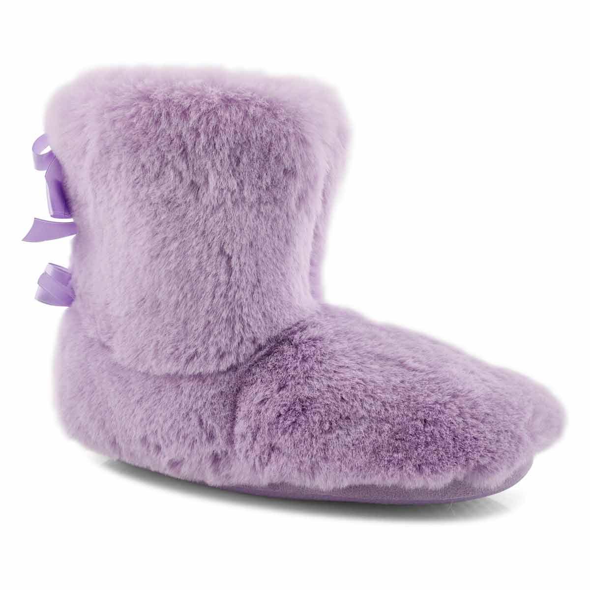 Women's ZIPPY 2.0 purple tall slippers