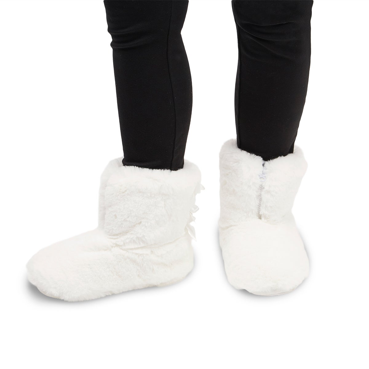 Lds Zippy 2.0 white  tall slipper