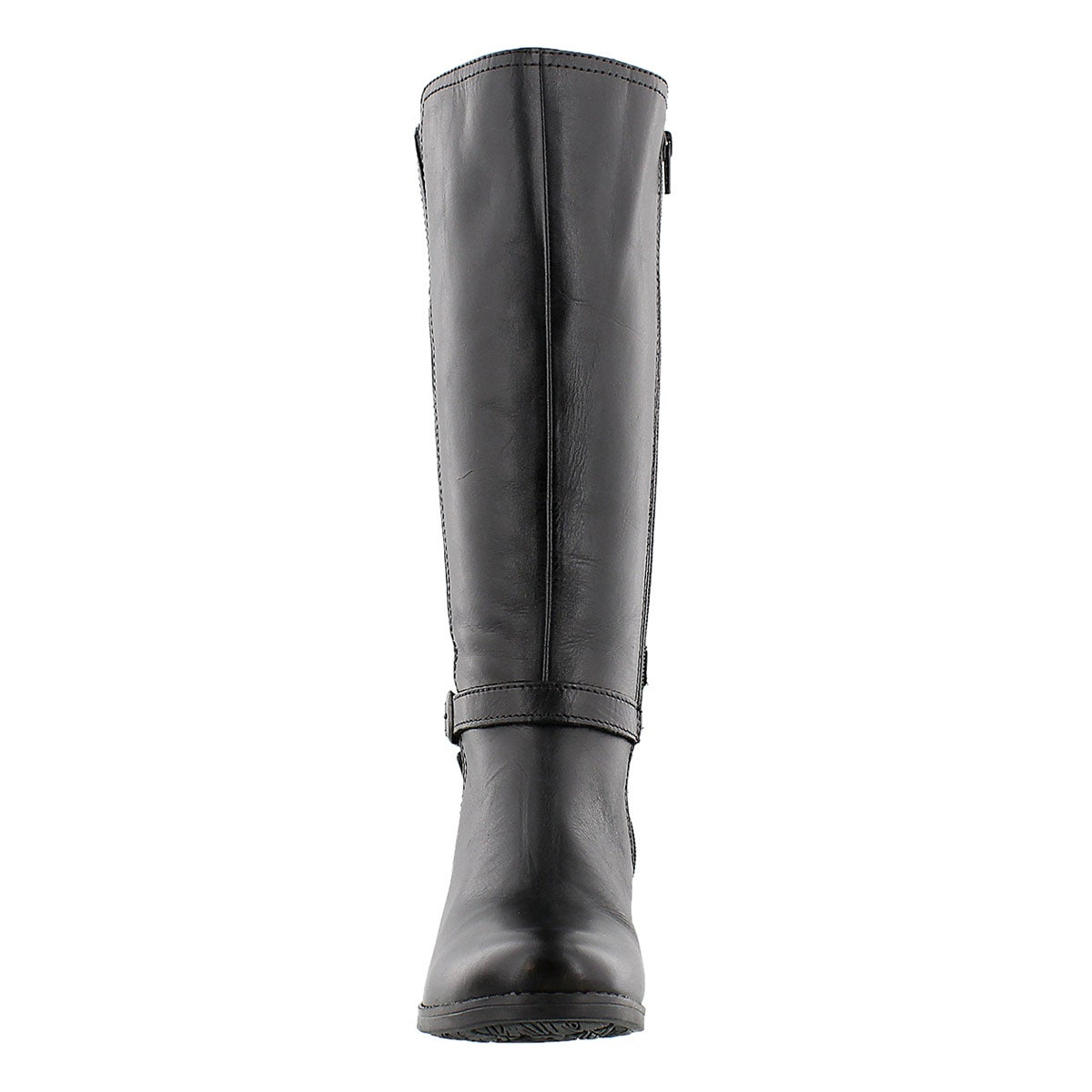Lds Zoey blk leather tall boots