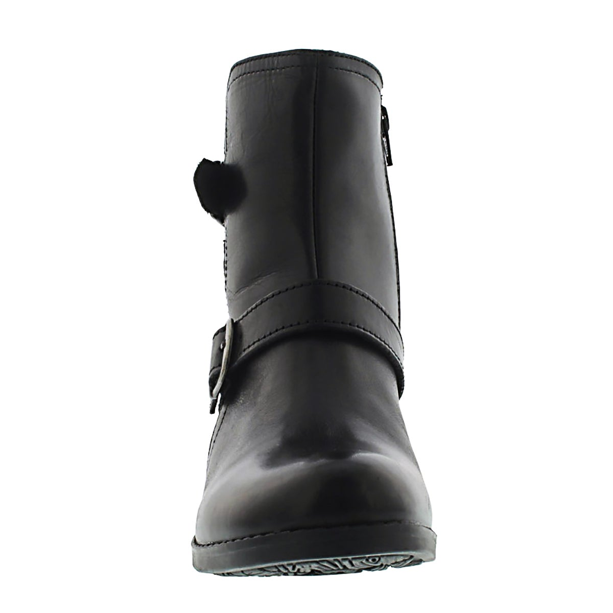 Lds Zoey blk leather ankle boots