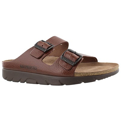 Mephisto Men's ZONDER tan cork footbed sandals