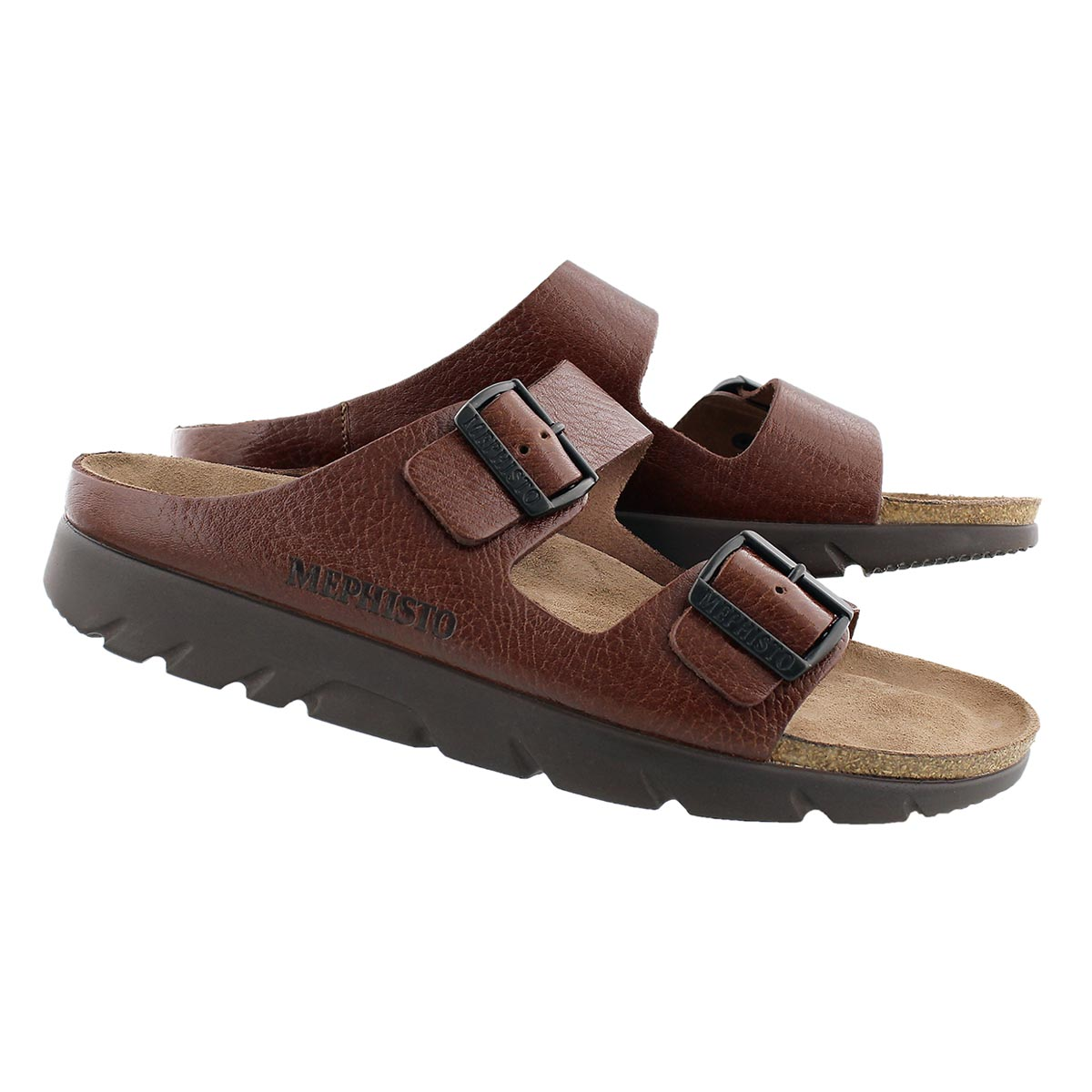 Mns Zonder tan cork footbed sandal