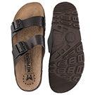 Mns Zonder dk brn cork footbed sandal
