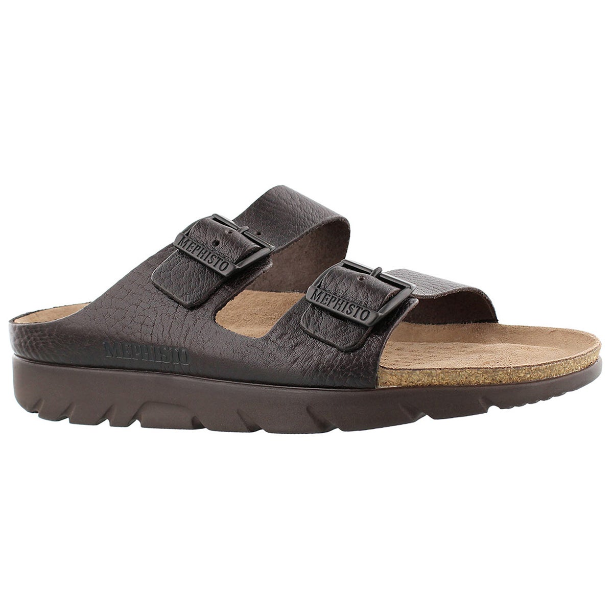 Men's ZONDER dark brown cork footbed sandals