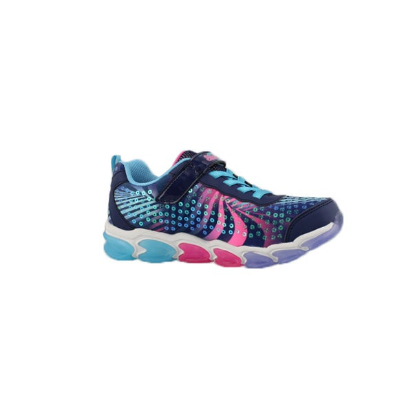 Skechers Girls Jelly Beams Navy Multi Light Softmoc Com